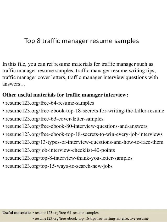 traffic manager resumes - Yelommyphonecompany - traffic production manager resume