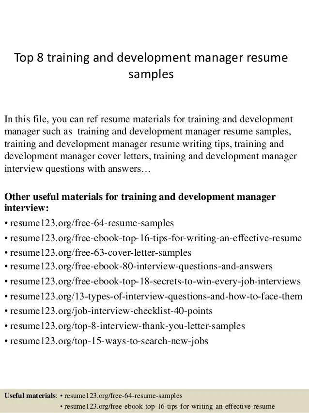 training and development manager resume - Acurlunamedia - Training Manager Resume