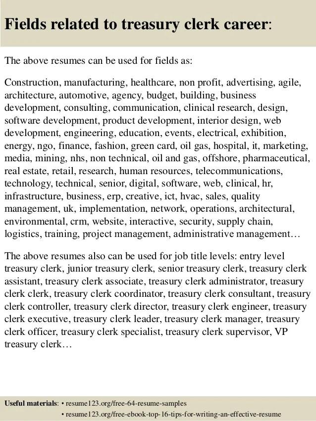 treasury resume - Funfpandroid