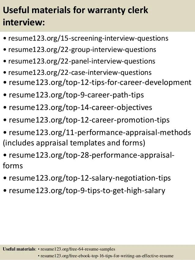 Title Clerk Sample Resume] Professional Auto Title Clerk Templates ...