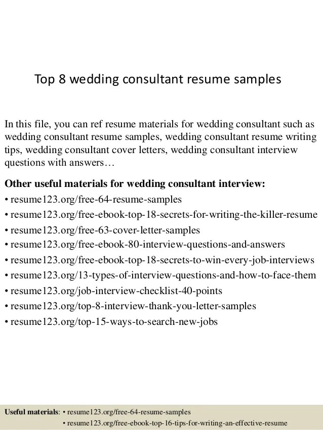 bridal consultant resume template