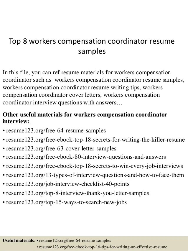 workers compensation resume - Ozilalmanoof - workers compensation manager sample resume