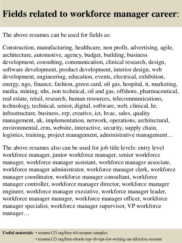 workforce resumes - Goalgoodwinmetals