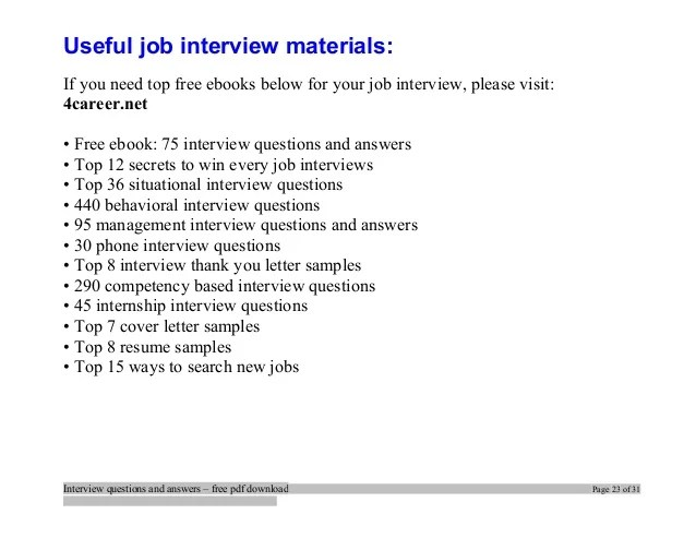 warehouse interview questions and answers