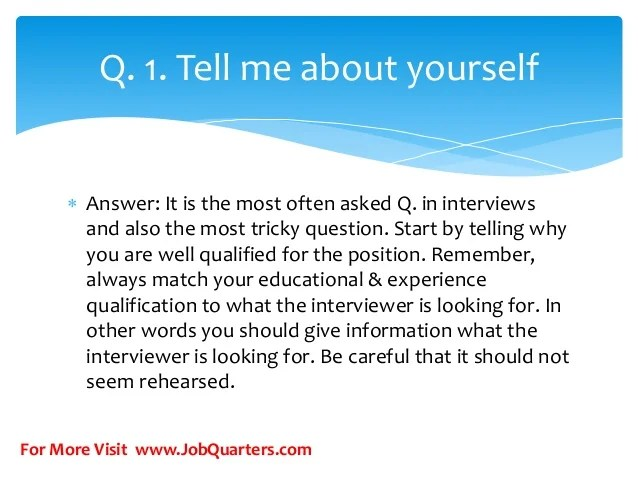 Top hr interview questions and answers for freshers by www.jobquarters