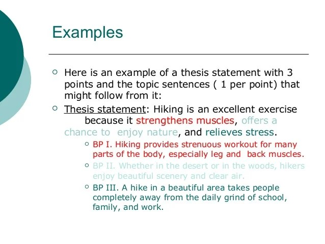 examples of topic sentences for an essay
