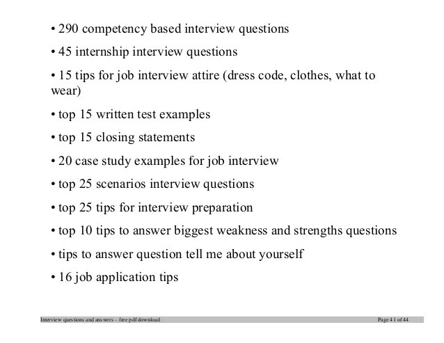 interview weaknesses examples list
