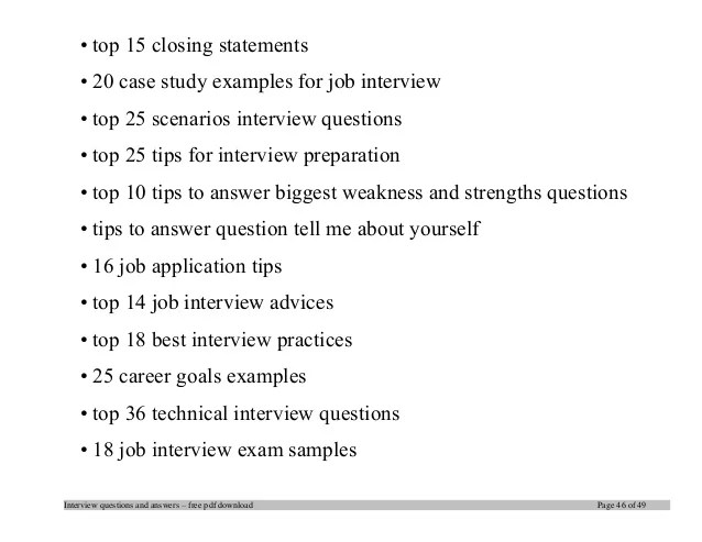 Case Study Interview Examples and Questions Career Profiles