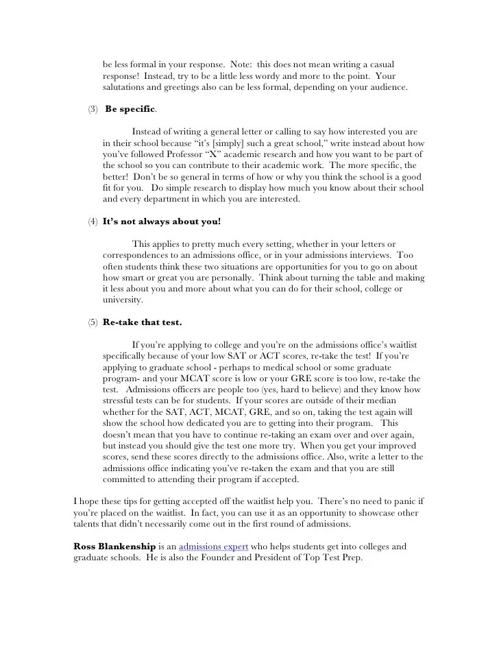 Reference Letters Magazine University Of Alberta Tips To Help You Get Accepted Off The Waitlist