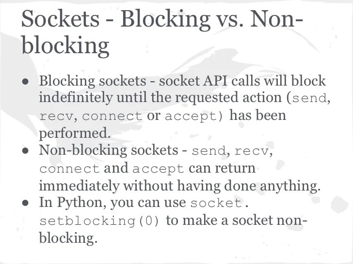 Select Vs Non-blocking Socket Tornado Web Server Internals