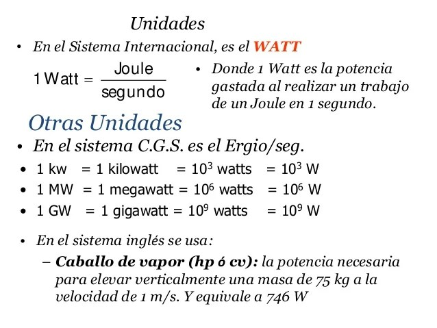 conversion cv en watt