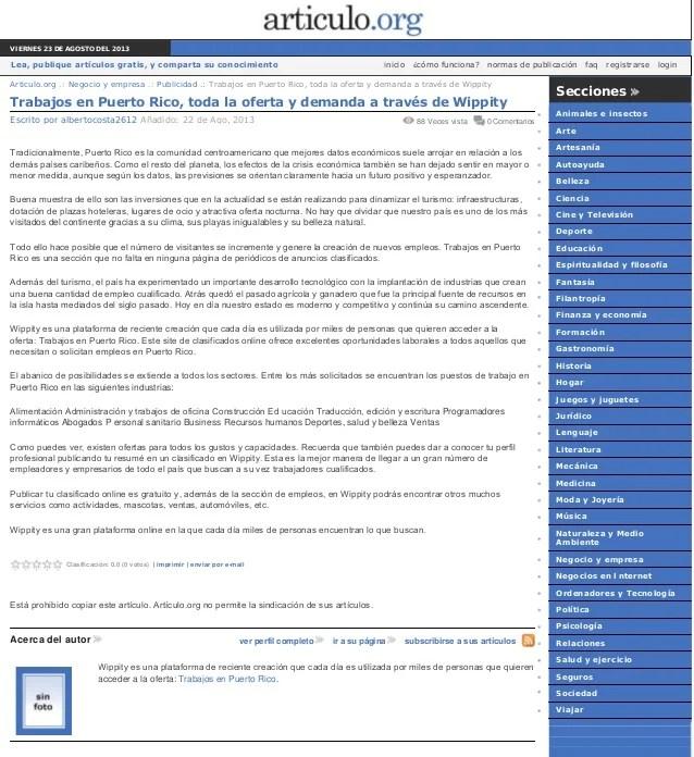 Empleos puerto rico ofertas de trabajo en puerto autos weblog - Ofertas de trabajo en puerto real ...