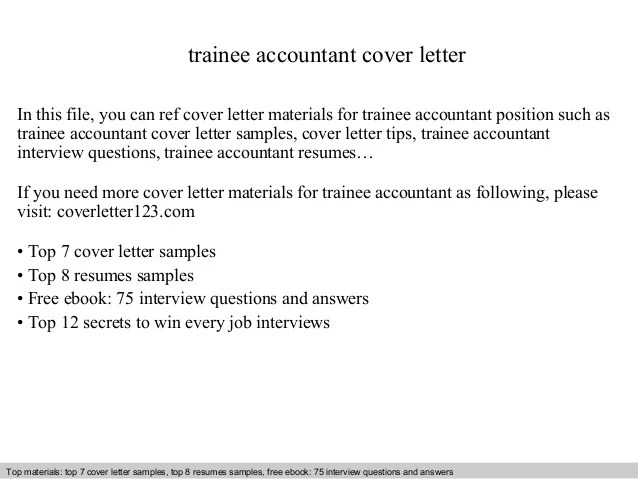trainee accountant cover letter in this file you can ref cover letter