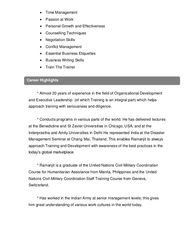 trainer profile template - Towerssconstruction