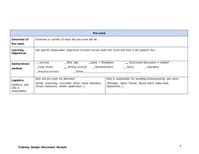 training design document template - Onwebioinnovate - game design doent template