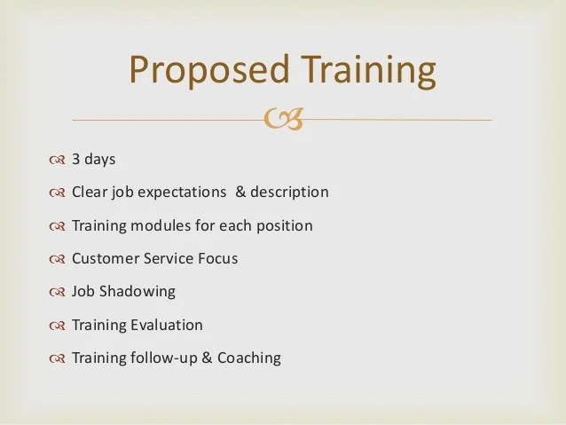 Training Proposal Template Ophion