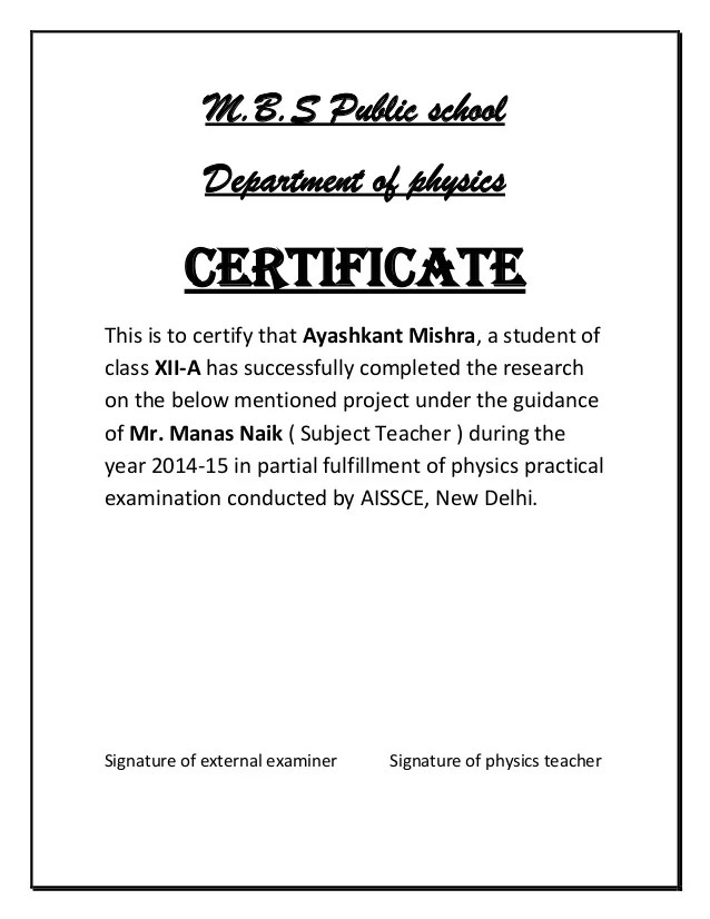 sample certificate for school project - Onwebioinnovate - sample school certificate
