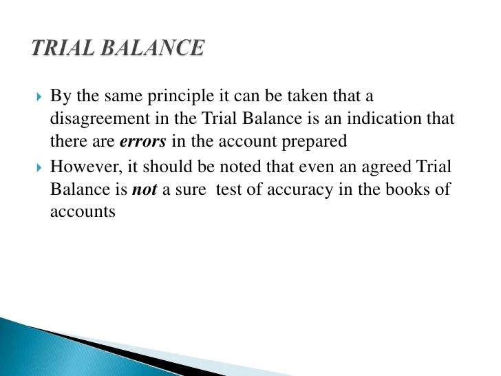 Entry6 Trial Balance And Errors