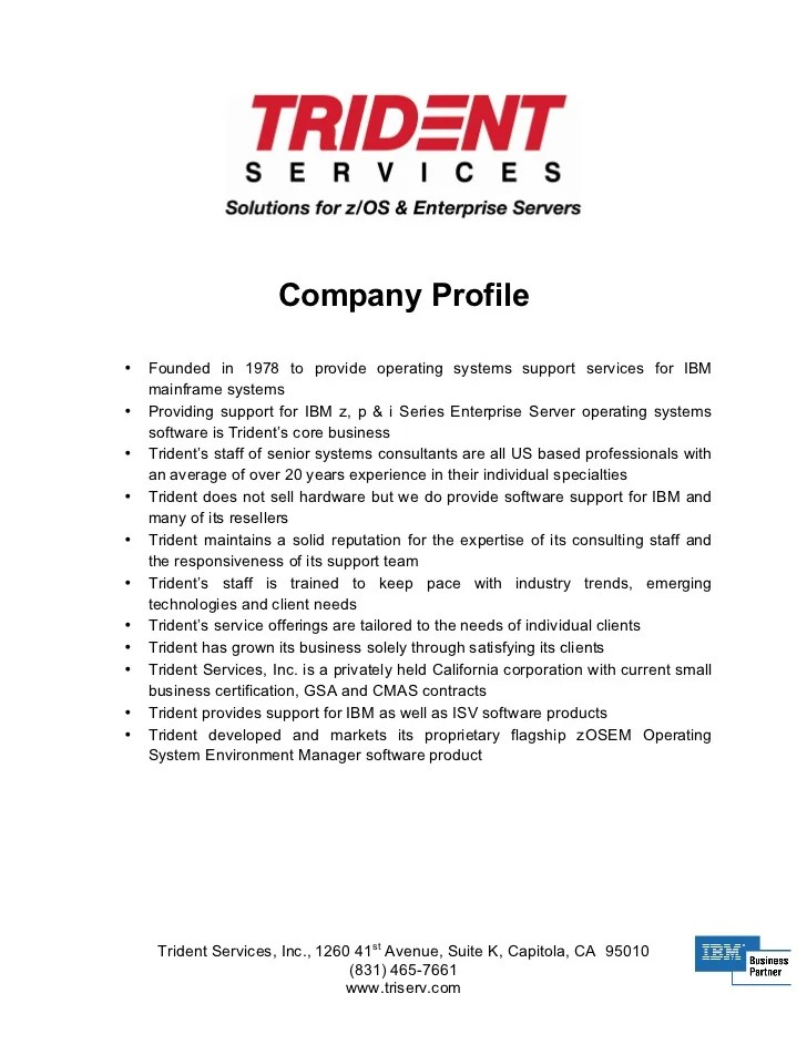 Doc814883 Sample Company Profile Format in Word Company – Company Profile Sample Download