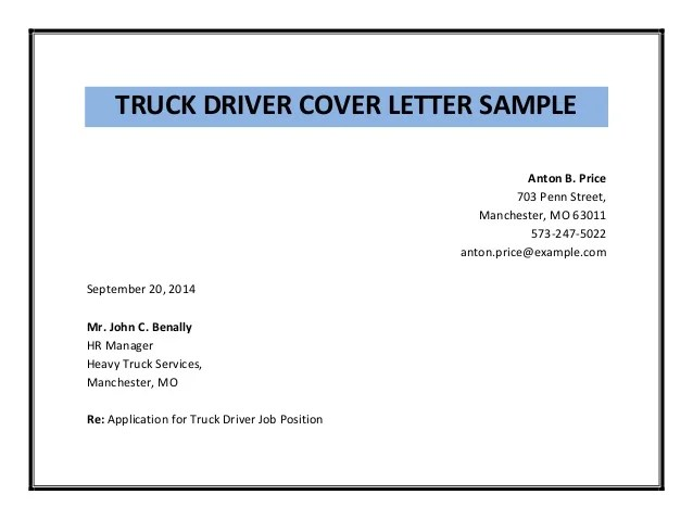Resume Writing Guide Resumagic Truck Driver Cover Letter Sample Pdf