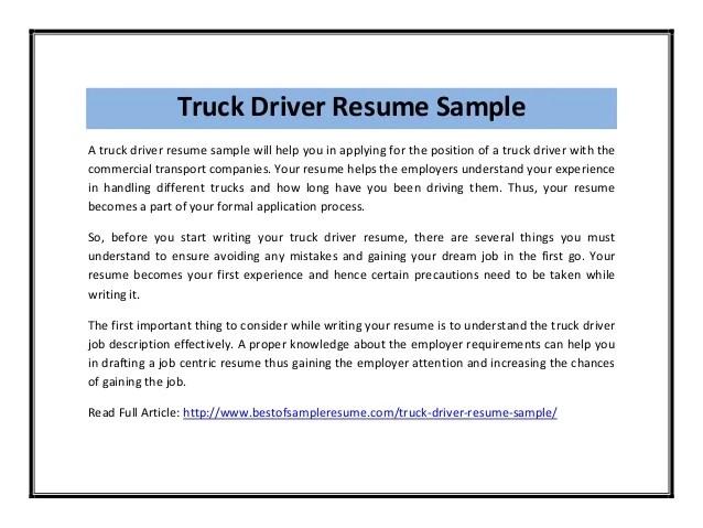 driver sample resumes - Josemulinohouse - driver sample resume