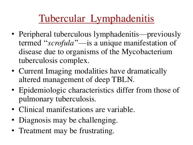 Tubercular Lymphadenitis Management