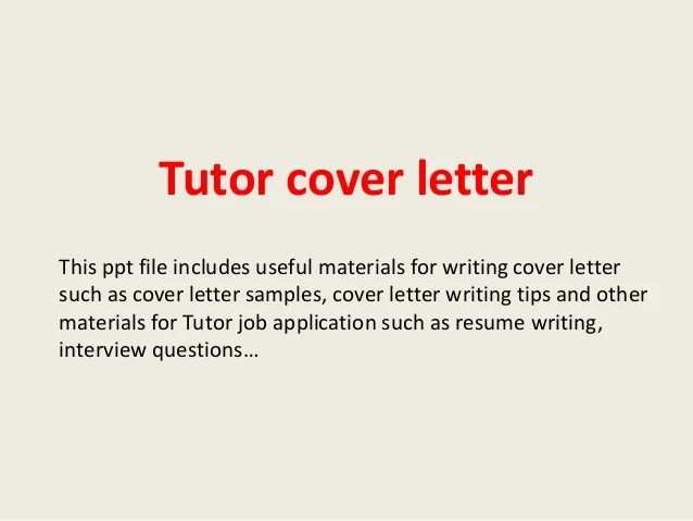 Tutor Cover Letter Cover Letter Examples For Writing Cover Lettersuch As Cover  Letter Samples Cover Le