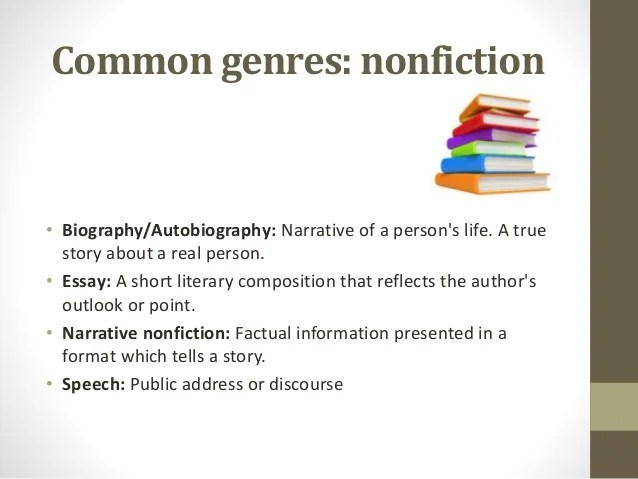 Types And Genres Of Books