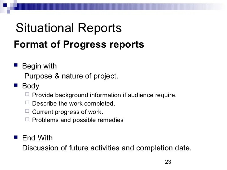 business progress report example - Alannoscrapleftbehind - business report format example