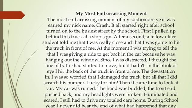 an embarrassing moment essay