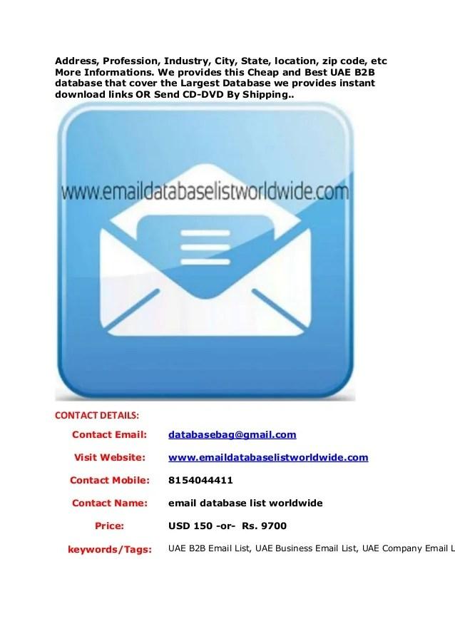 Uae b2 b email list, uae business email list, uae company email lists…