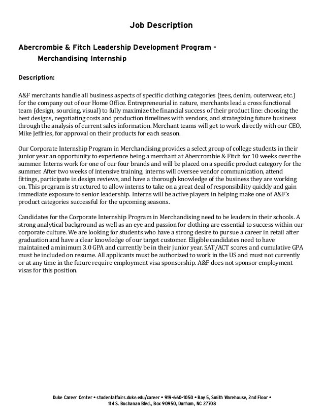 17 Great Cover Letter Examples For 2017 Internships Undergraduate Student Cover Letter Example Abercrombie