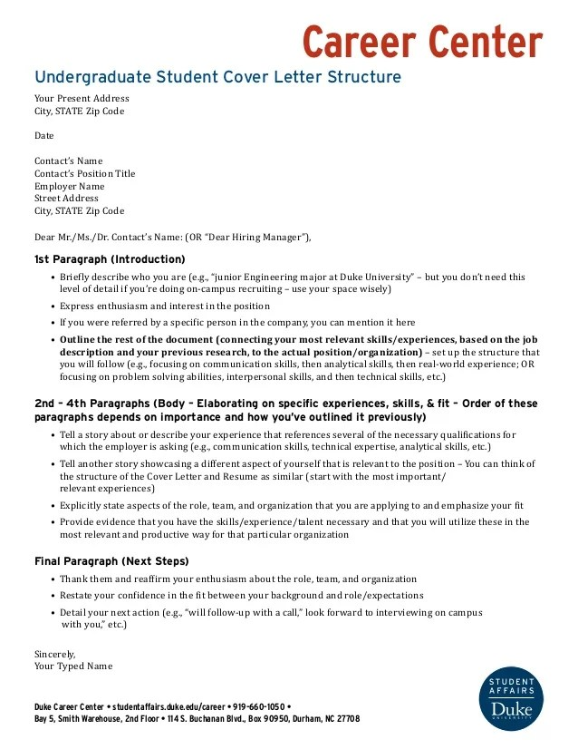 columbia university career services cover letter