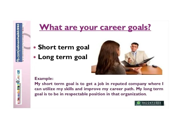 long term career goal examples - Pinarkubkireklamowe