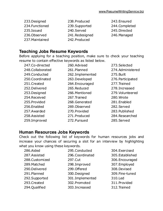 resume action words by skill key action words to use in your resume undercover recruiter resume