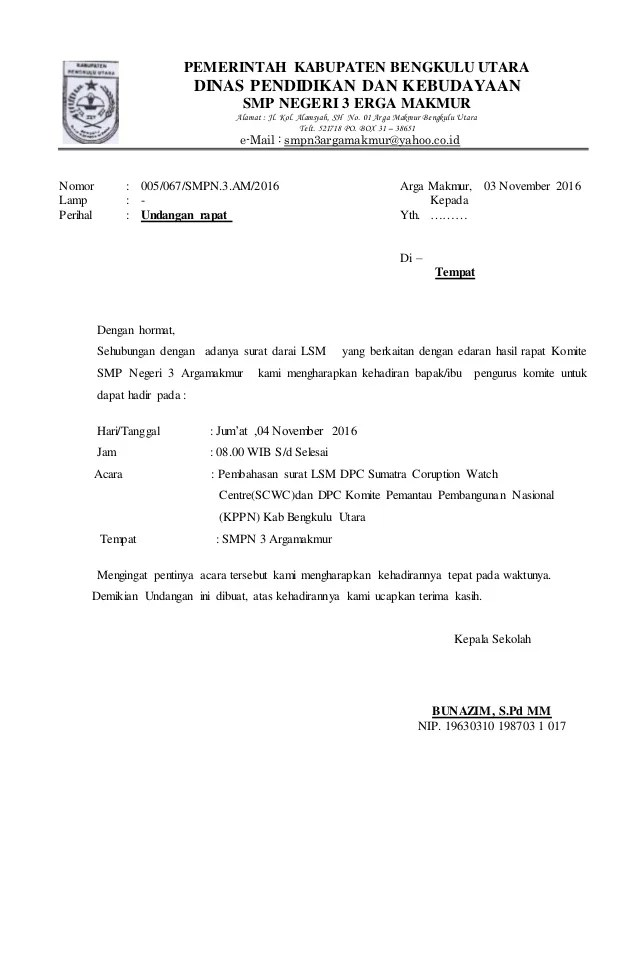 Linked In Resume Undangan Komite