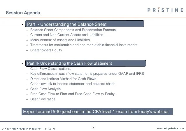 Understanding balance sheet and cash flow statement