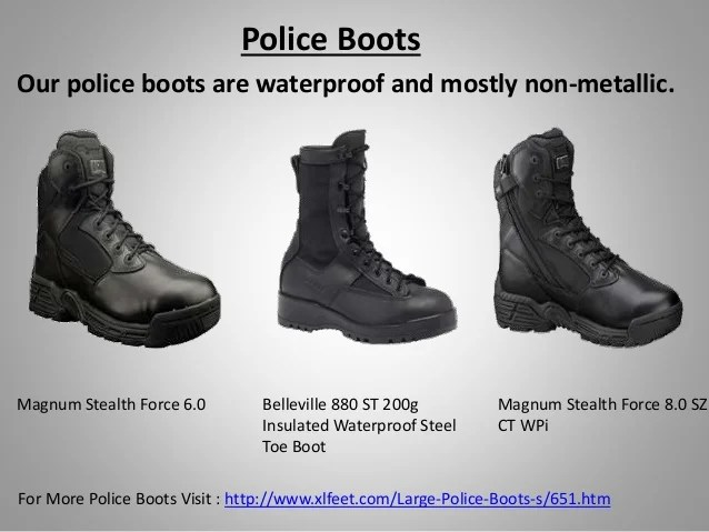High Quality Uniform Boots And Shoes For Large Men Available At Xlfee