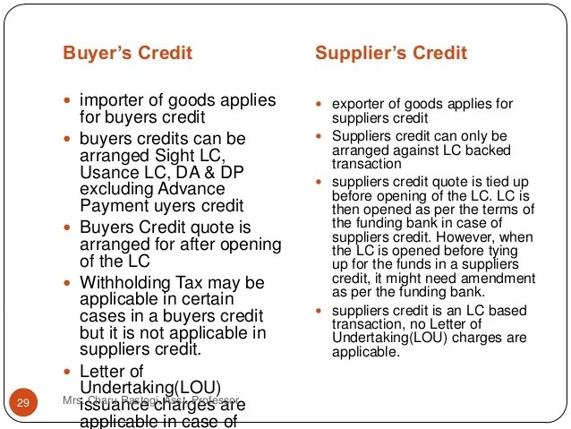 What Is Difference Between Deferred And Usance Lc Best Unit 4 Trade Settlement Methods Export Finance
