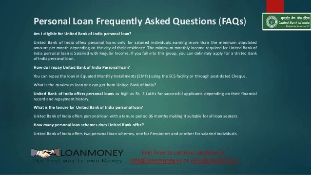 United Bank of India Personal Loan in Delhi/NCR through LoanMoney