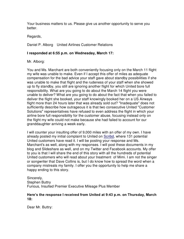 Complaint Business Letters Examples  How To Write A Resume Beginner