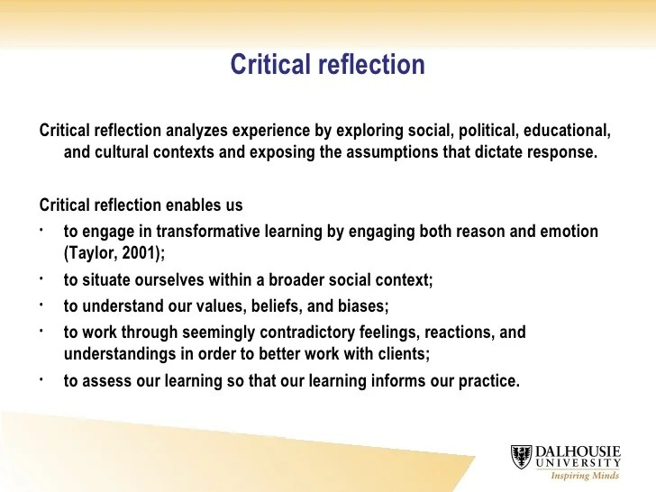 topics for reflective essays