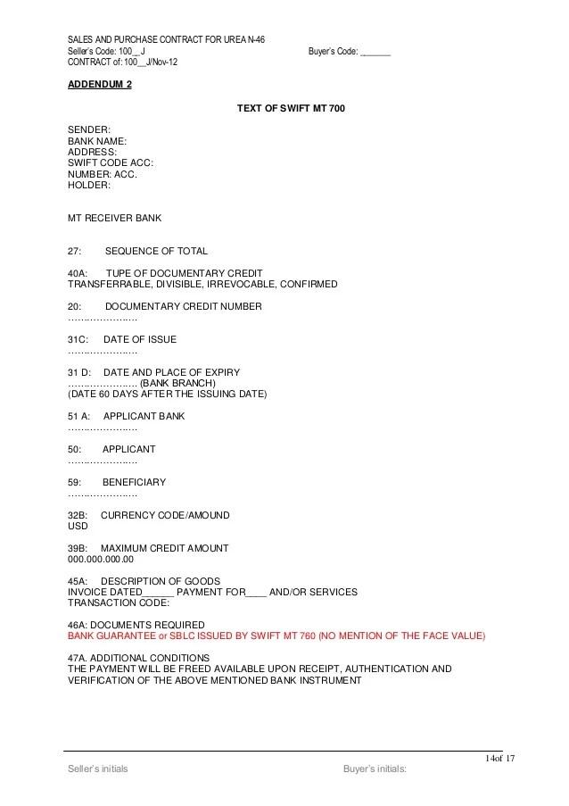 Create A New I 9 Urea Draft Contract 1200 K Mt Lc Bgsblc 2