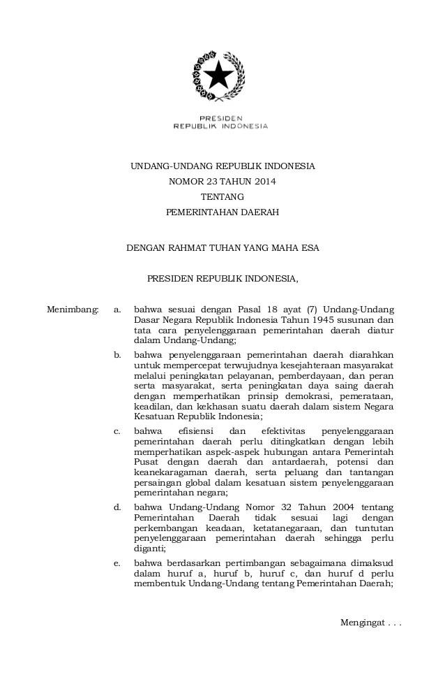 Uu Tentang Desa Pengelolaan Keuangan Desa Dalam Kerangka Uu No6 Tahun Uu No 23 Tahun 2014 Tentang Pemerintahan Daerah
