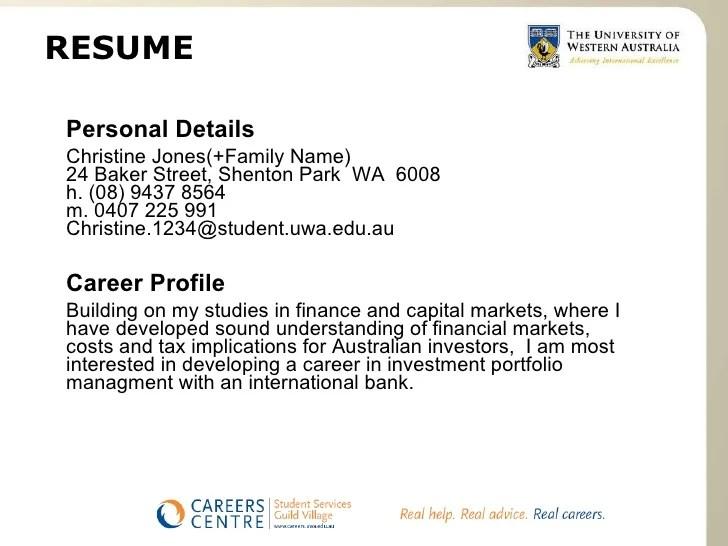 career profile resume - Mucotadkanews