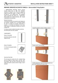 Murano Acoustic Wood panel installation systems