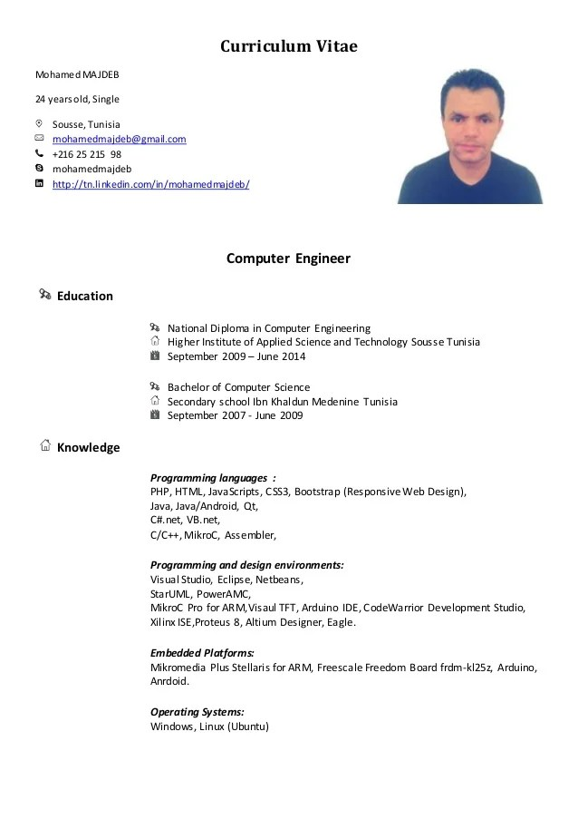 cv d ingenieur en informatique