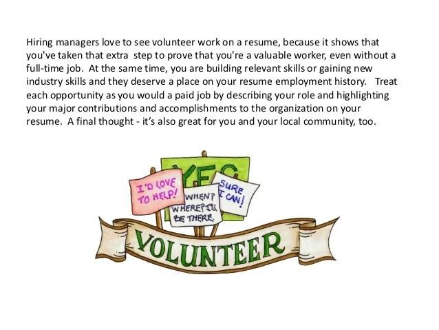 highlighting volunteer work on resume