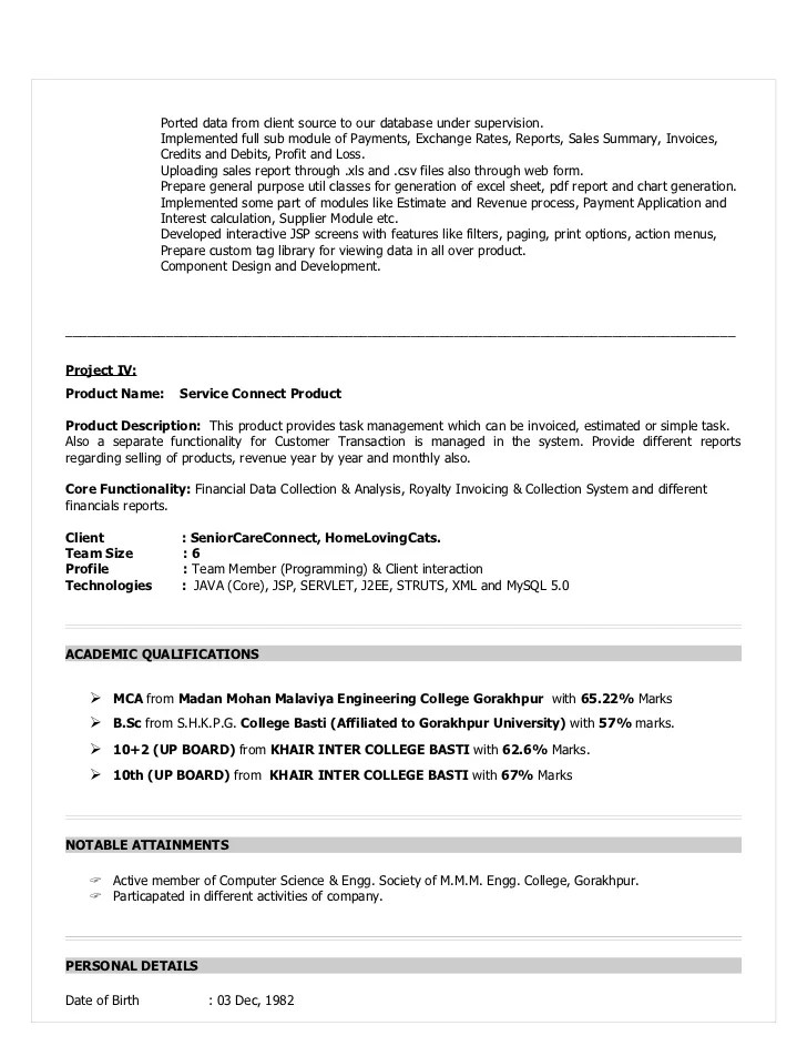 j2ee jsp resume - Minimfagency - java software engineer sample resume