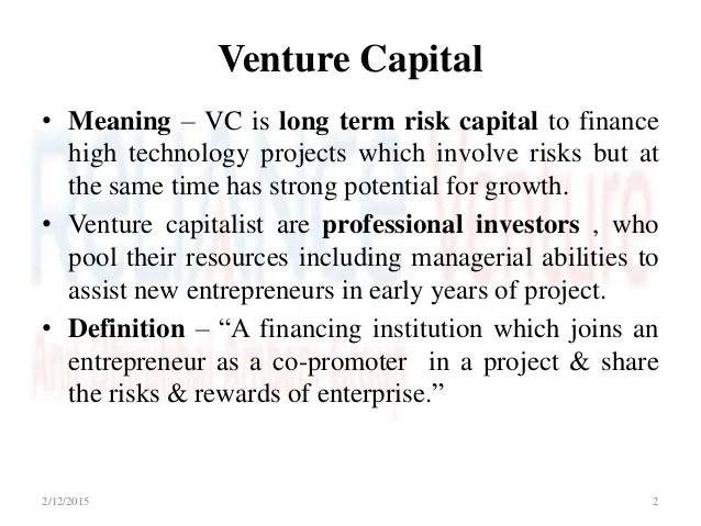 Image For Venture Capitalist Definition Simple